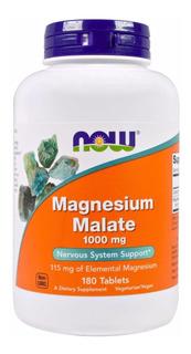 Now Malato Magnesio 1.000mg - 180cáps.  Frete Gratis