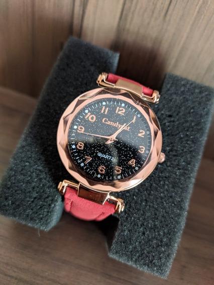 Relógios Feminino De Pulso Quartzo Moda Feminina Vermelho