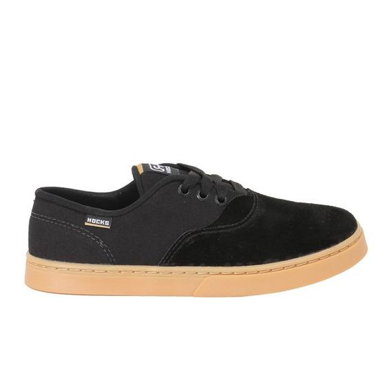 Tênis Skate Hocks Sonora Preto/natural Resistente Black