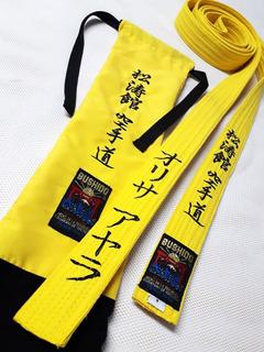 Cinta Cinturon Bordado De Artes Marciales Karate Taekwondo