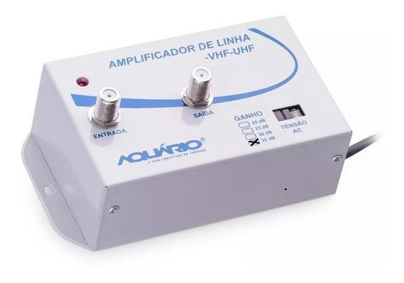 Amplificador De Sinal De Antena Para Tv - 35dbi - Aquário