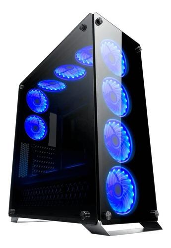 Gabinete Gamer Redragon Ironhide Gc-801 Rgb X6 Full Tower