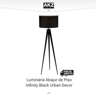 Luminária Abajur De Piso Infinity Black Urban Decoração