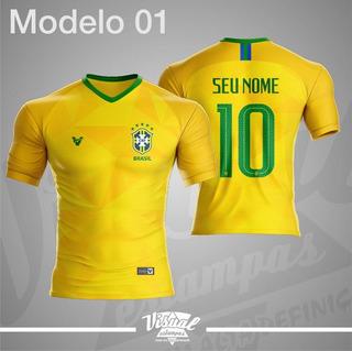 Camisa Brasil Copa 2018 Personalizado
