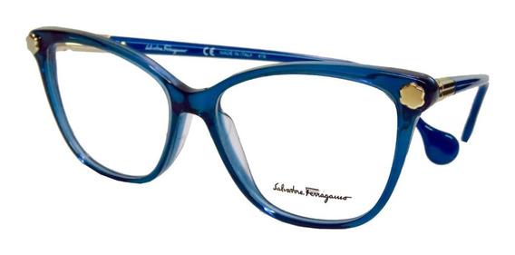 Lentes Gafas Ferragamo Sf2838 Oftálmicos Glam Mujer Italy