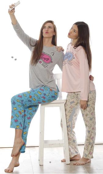 Pijama Invierno Modal Talle 12 Al 16 Sleepy Donna 6345-te