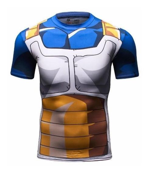 Playera Vegeta Goku Dragon Ball Compresion Licra Crossfit