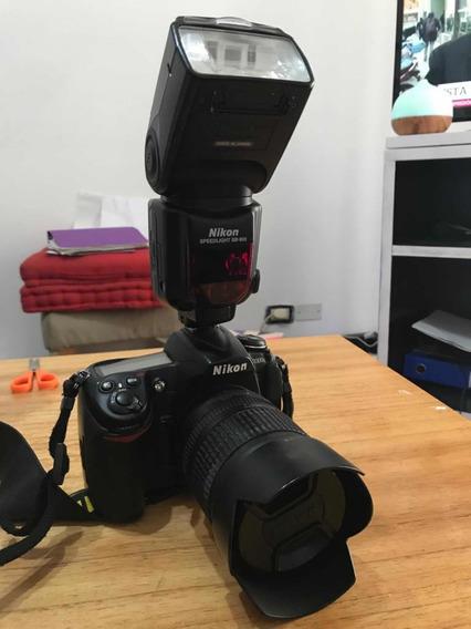 Cámara Semi-profesional Nikon D300s Réflex Con Flash Sb900