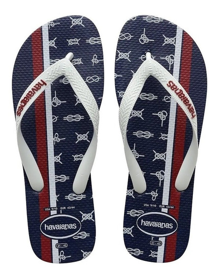 Chinelo Top Nautical Havaianas 41/42 Sandálias Masculinas Az