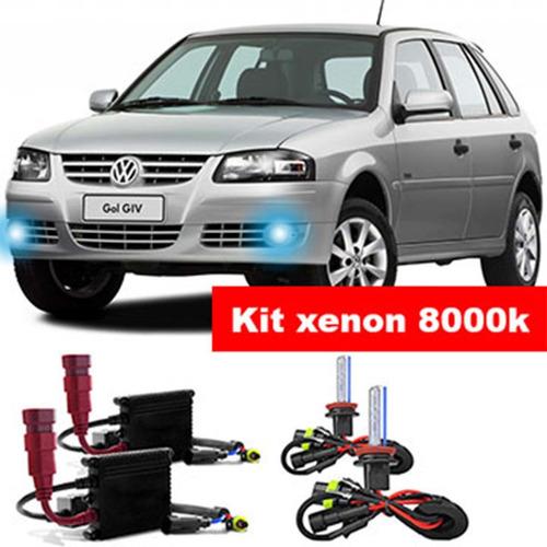 Kit Xenon H3 8000k Para Farol Milha Gol - Saveiro G2 G3 G4