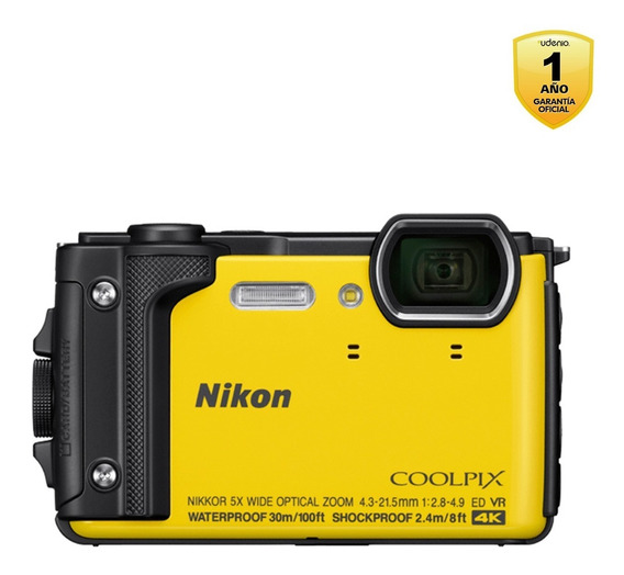 Camara Nikon Coolpix W300 Yellow Wp + Correa De Flotación