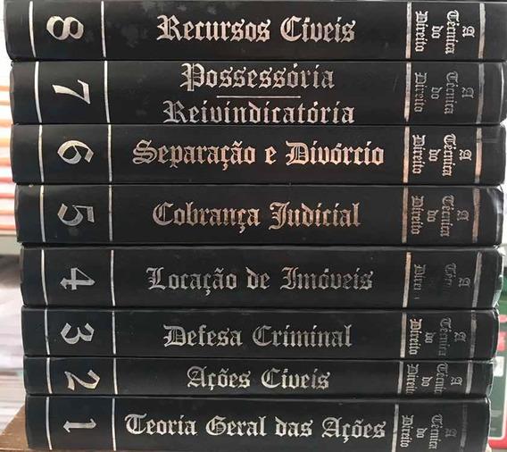 A Técnica Do Direito - 8 Volumes + 1 O Latim Do Direito