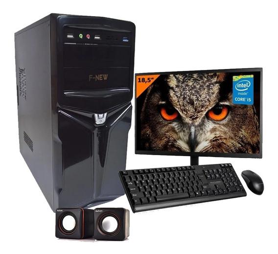 Pc Computador Completo Intel I5 4gb Hd500gb Wifi Monitor