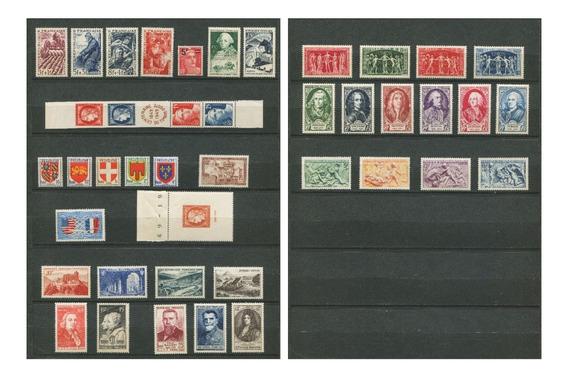 Sellos Francia Año 1949 Completo Yvert 823-862 Mnh