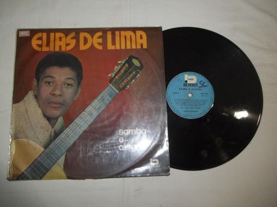 Vinil Lp - Elias De Lima Samba E Alegria - Mpb Cantor Raro