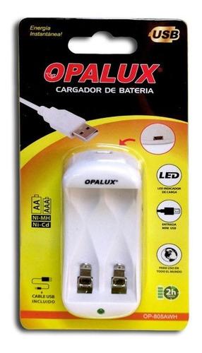 Cargador De Baterías Recargables Aa/aaa Opalux - Mihaba
