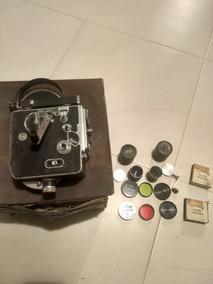 Filmadora Antiga Paillard Bolex Original Com Caixa E Lentes
