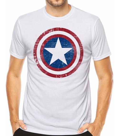 Camiseta Marvel Super Heroes Capitão América Séries Animes