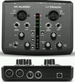 M Audio Placa Gravação M Track Ii 2x2 Interface Usada