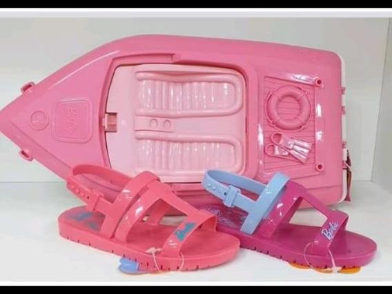 Sandalias Barbie + Lancha + Accesorios. Original
