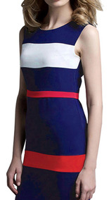 Sleeveless Assorted Colors Striped Bodycon Dress