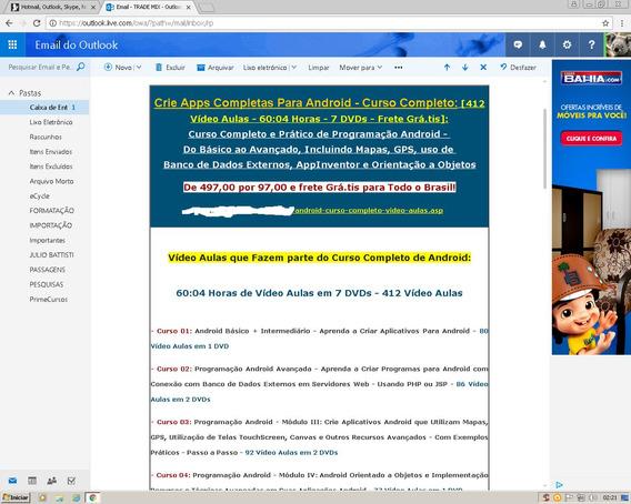 Curso De Android - Plataforma Java - 4.000 Vídeo Aulas