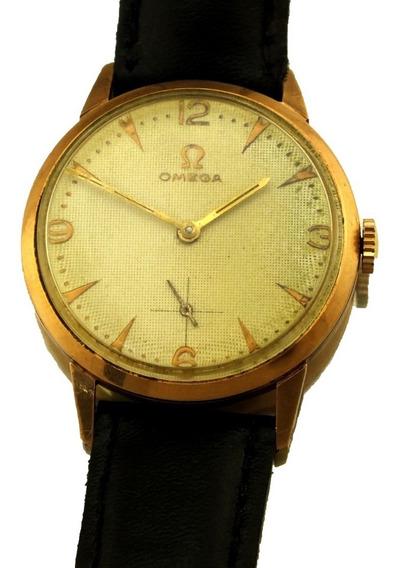 Relógio De Pulso Clássico Suiço Omega Masculino Em Ouro Amarelo 18k 17 Rubis Calibre 269 Ano 1964 Frete Grátis J20001