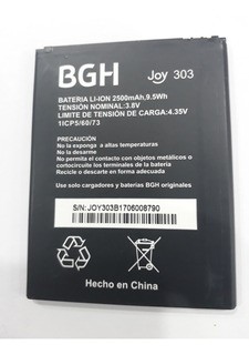 Batería Original Bgh Joy 303 2500mah No Copia