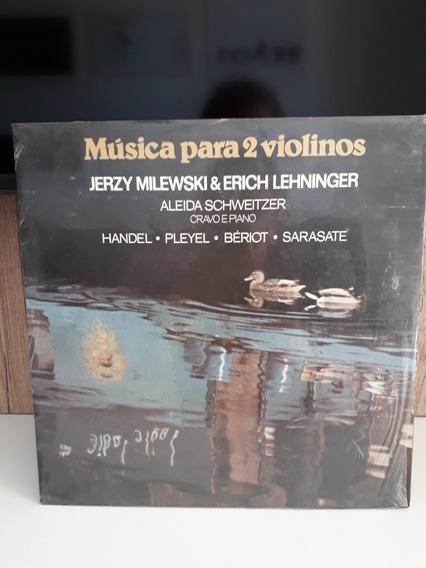 Lp Novo Música P 2 Violinos Cravo Piano