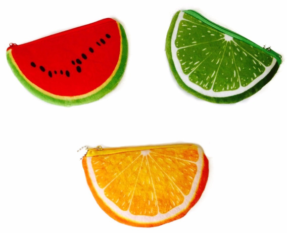 Monederos Felpa Frutas Portasube Guardacosas Souvenir Regalo