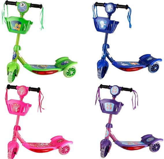 Patinete 3 Rodinhas Scooter Infantil Som E Luz