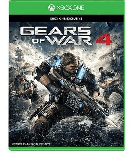 Jogo Gears Of War 4 Xbox One Mídia Física Lacrado Português