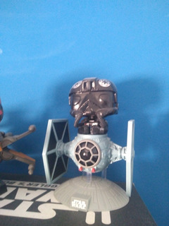 Tie Fighter Pilot With Tie Fighter Funko Pop Star Wars Loose