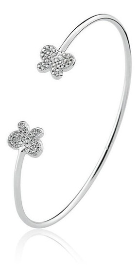 Bracelete Borboleta Com Zirconias