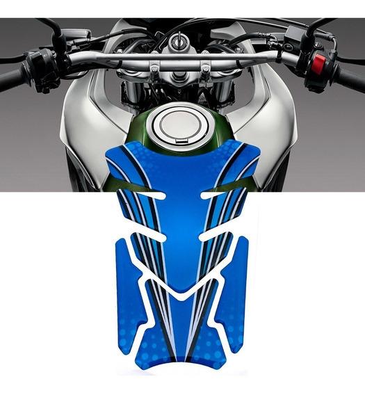 Adesivo Protetor De Tanque Tank Pad Para Moto Universal Azul