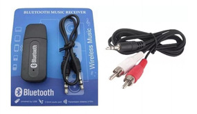Kit Receptor Wireless Áudio Bluetooth Cabo Adaptador P2/2rca