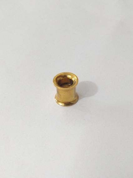 Alargador 8mm Rosca Interna Em Titânio Dourado