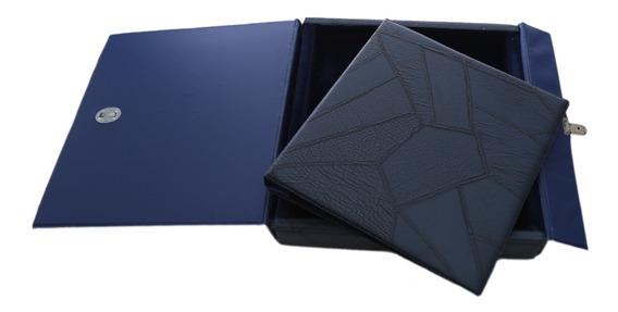 Álbum C/ Caixa Para Fotos 15x21 E 20x25 Azul Escuro