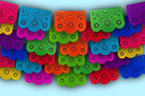 Imagen 1 de 4 de Papel Picado - Enramada Destello Floral Papel