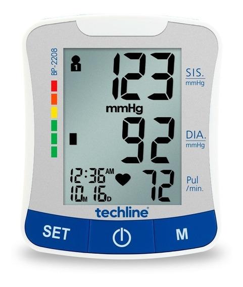 Monitor De Pressao Arterial Techline Bp-2208 Branco/azul