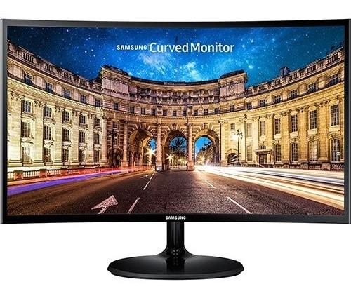 Imagem 1 de 4 de Monitor Led  '27'pl Curvo Full Hd Hdmi/vga Preto - Samsung