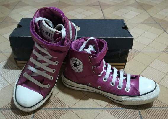 Zapatos Converse Tipo Botín Patentes Color Fucsia, Talla 36