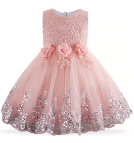 Vestido Infantil Dama Daminha Bordado Festa Casamento Renda