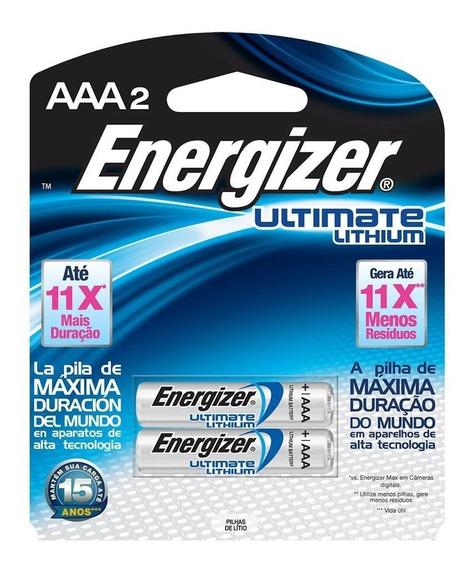 2 Pilhas Energizer Ultimate Lithium Aaa - Energizer