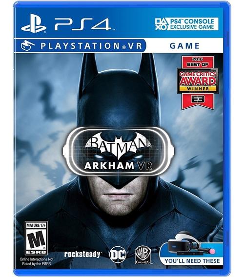 Batman Arkham - Ps4 Vr - Mídia Física Lacrado