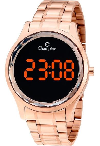 Relógio Champion Feminino Digital Rosé Detalhe Lapidado