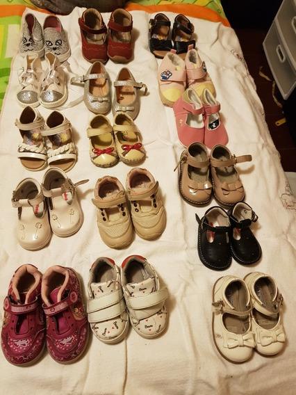 Kit De Zapatos De Niña Usados Tallas De 10 1/2 A 13, 13 1/2