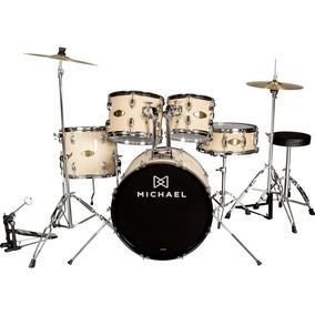 Bateria Acústica Michael Audition Dm827n Natural 20 Completa