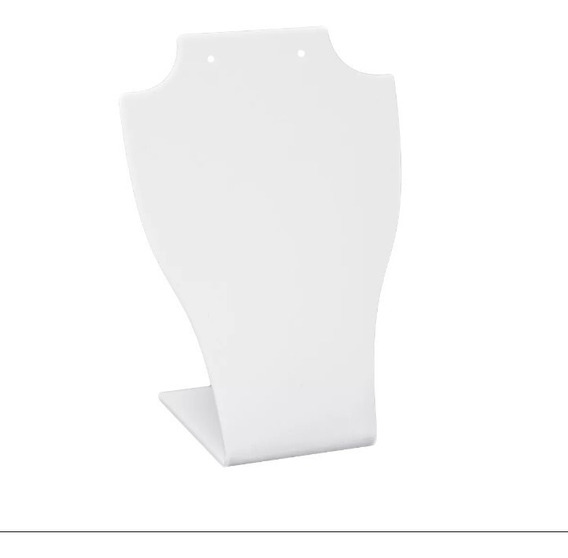 Expositor De Colar E Brinco - Branco 1 Peça