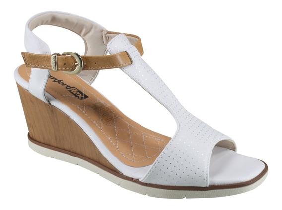 Sandália Branca Anabela Comfortflex Vestplus 16-55405